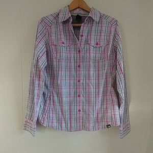 The North Face Plaid Long Sleeve Breathable Button